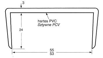 Listwa na drzwi grubości 53-55mm (dł. 5m) do kontenera